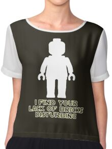 """I Find Your Lack of Bricks Disturbing"" by Customize My Minifig Chiffon Top"