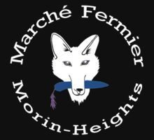 Marché Fermier Morin-Heights Coyote on dark One Piece - Short Sleeve