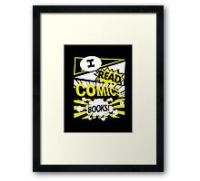 Love comics Framed Print