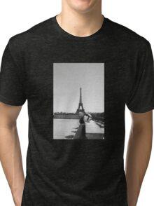 Eiffel Tower. Paris. France. Tourists. Graphic. Photography ® Tri-blend T-Shirt
