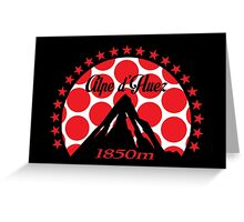 Alpe d'Huez (Red Polka Dot) Greeting Card