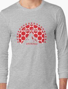 Alpe d'Huez (Red Polka Dot) Long Sleeve T-Shirt