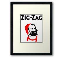 ZIG-ZAG MAN LOGO Framed Print