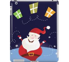 Santa claus with christmas presents. Cute christmas Santa in red costume iPad Case/Skin