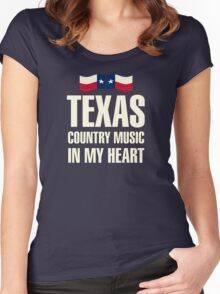 Texas country music Women's Fitted Scoop T-Shirt