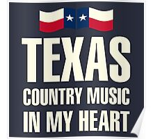Texas country music Poster
