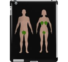 Male and Female Realistic Shape Body Toilet Sign With Leaves iPad Case/Skin