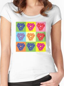 45 Record Holder Pop Art 2 Women's Fitted Scoop T-Shirt