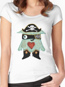 Pirate Monster Women's Fitted Scoop T-Shirt