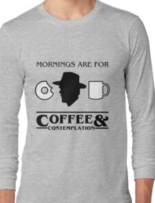 Stranger Things : Coffee & Contemplation Long Sleeve T-Shirt