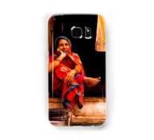 Contemplative woman, Udaipur, Rajasthan, India Samsung Galaxy Case/Skin