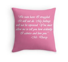 Mr. Darcy's Pride & Prejudice Proposal Throw Pillow