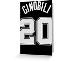 Manu Ginobili Greeting Card