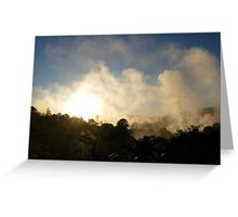 Sunrise in Rotorua, New Zealand Greeting Card