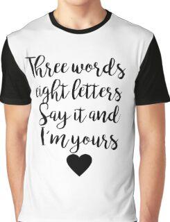 Gossip Girl - Three Words Graphic T-Shirt