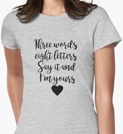 Gossip Girl - Three Words Womens Fitted T-Shirt
