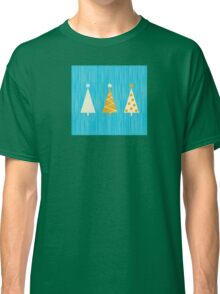 Vintage christmas tree pattern. Modern christmas trees pattern Classic T-Shirt