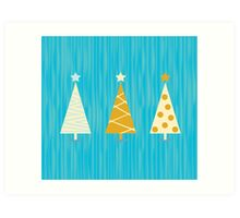 Vintage christmas tree pattern. Modern christmas trees pattern Art Print