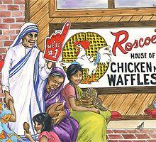 Mother Teresa, Roscoe's Chicken N Waffles, We're #1 Foam Finger by sonyaandrews