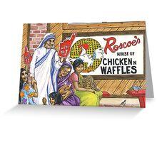 Mother Teresa, Roscoe's Chicken N Waffles, We're #1 Foam Finger Greeting Card