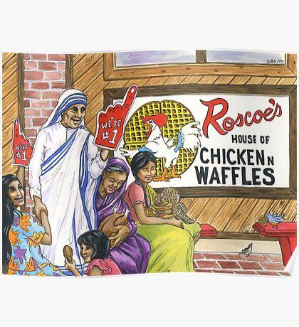 Mother Teresa, Roscoe's Chicken N Waffles, We're #1 Foam Finger Poster