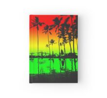 Rasta Colors Beach Silhouette Hardcover Journal