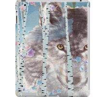 The wolf in the forest iPad Case/Skin