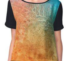 Sand And Sea abstract art Chiffon Top