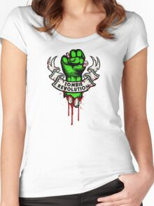 Zombie Revolution! Women's Fitted Scoop T-Shirt