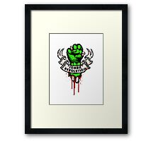Zombie Revolution! Framed Print