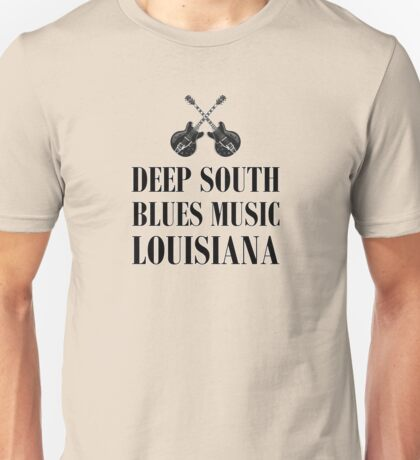 Deep south blues music (black) Unisex T-Shirt