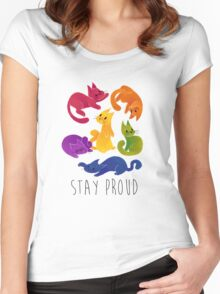 LGBT+ PRIDE CATS Women's Fitted Scoop T-Shirt