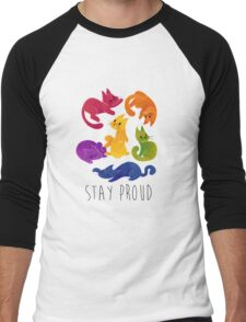 LGBT+ PRIDE CATS Men's Baseball ¾ T-Shirt
