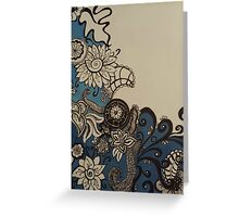 Flowers and Sea Greeting Card