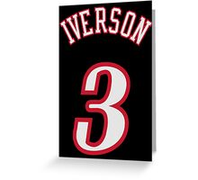 Allen Iverson Greeting Card