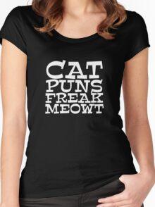 Cat puns freak meowt Women's Fitted Scoop T-Shirt