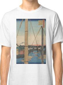 Inari Bridge and Minato Shrine - Hiroshige Ando - 1857 Classic T-Shirt