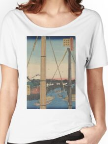 Inari Bridge and Minato Shrine - Hiroshige Ando - 1857 Women's Relaxed Fit T-Shirt