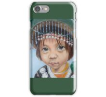 Tiny hilltribe girl in green iPhone Case/Skin