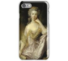 MRS DRUMMOND  By thomas gainsborough iPhone Case/Skin