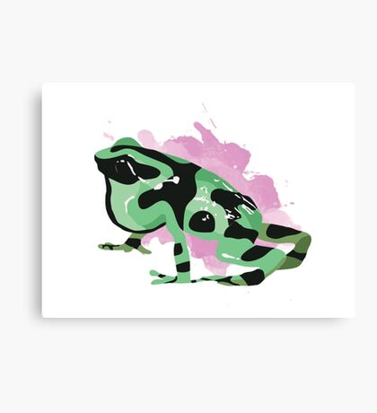 Green Poison Dart Frog Canvas Print