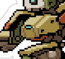 OverWatch Bastion Pixel spray Sticker