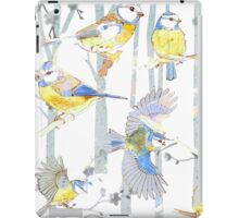 Bluetits in the forest iPad Case/Skin
