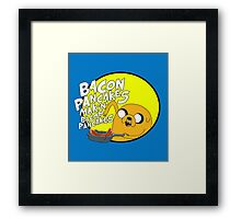 adventure time bacon pancakes Framed Print