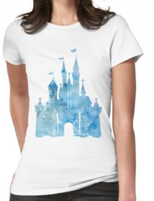 Watercolor Castle Womens Fitted T-Shirt