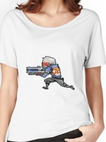 OverWatch Solider 75 pixel Women's Relaxed Fit T-Shirt
