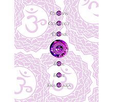 Crown Chakra 7 Point (White Background) Photographic Print