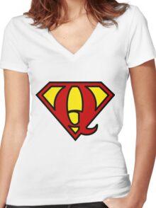 Super QGIS Women's Fitted V-Neck T-Shirt