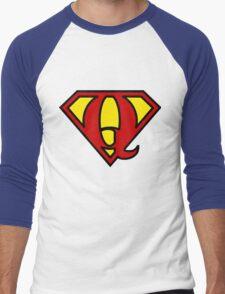 Super QGIS Men's Baseball ¾ T-Shirt