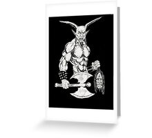 Goat Lord Greeting Card
